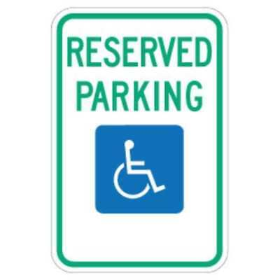 Parking Sign,18 x 12In,GRN and BL/WHT LYLE FD01S
