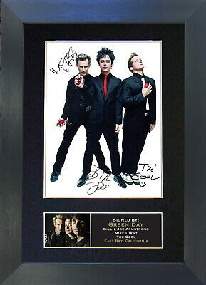 GREEN DAY Signed Mounted Autograph Photo Prints A4 196