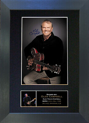 GLEN CAMPBELL Signed Mounted Autograph Photo Prints A4 279