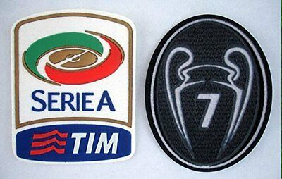 AC Milan 2012-2015 Serie A Uefa Trophy 7 Soccer Patch Set Football Shirt Badges