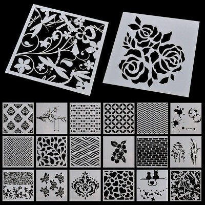 Flower Layering Stencils Scrapbooking Album Decor Embossing Drawing Paper Craft