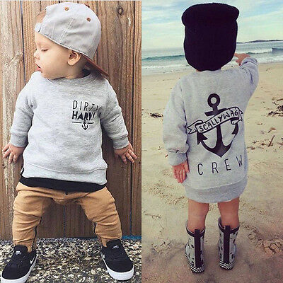 Anchor Toddler Baby Boys Kids T-Shirt Tops+Pants Clothes Outfits 2pcs Cotton Set