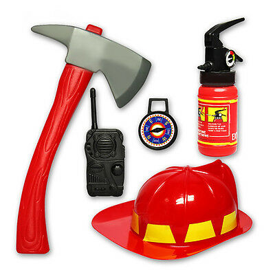 5pcs Plastic Firefighter Helmet Extinguisher Kids Child Funny Toy Fire Rescue