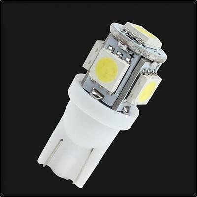 20PCS T10 Wedge 5-SMD 5050 LED Super White Light bulb W5W 2825 158 192 168 194