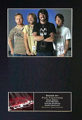 FOO FIGHTERS Signed Mounted Autograph Photo Prints A4 192