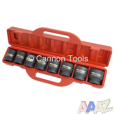 "8pc 3/4"" inch Drive Shallow Impact Socket Garage Tool Set 24mm - 38mm Sockets"