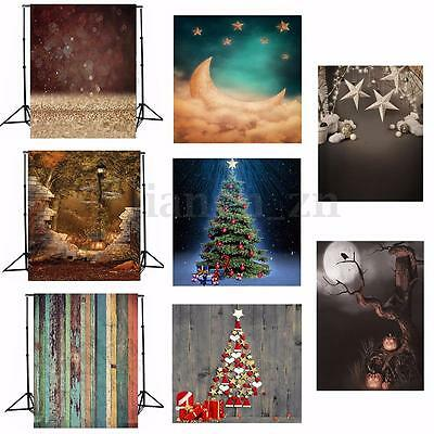 5x7FTChristmas Vinyl Studio Backdrop Photography Photo Props Wall Background
