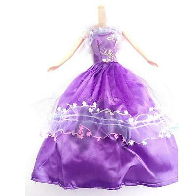 5Pcs Kids Gift Princess Dress Wedding Clothes/Gown For Barbie Doll Sets Lots