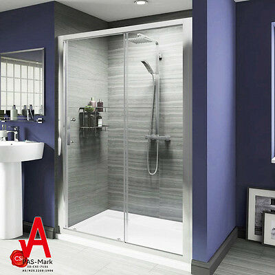 1000X1900mm Brand New Sliding Shower Screen  Enclosure Door Framed Wall to Wall
