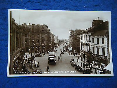 Carlisle: English Street From Law Courts - Scarce Real Photo Postcard!