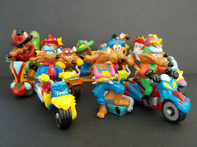 Lot série complète Kinder les 10 Motocoyotes France 2003 + 1 BPZ +  1 Magic Code