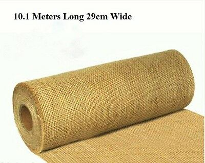 Hessian Table Runners Vintage Wedding Decoration Shabby Chic 10mtr 29cm Cut Edge