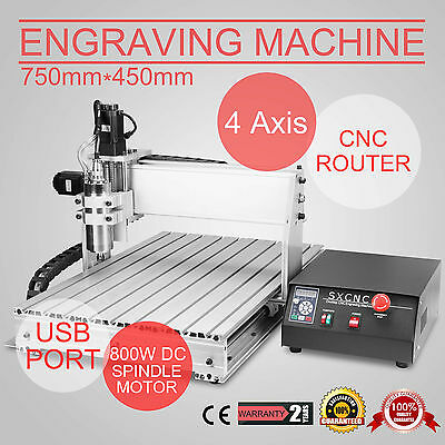 Usb 4 Axis 6040 800W Cnc Router Engraver Engraving Milling Machine Desktop 3D