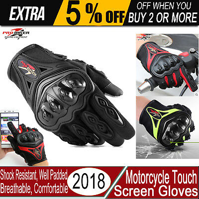Motorcycle Motocross Sports Riding Racing Cycling Bike Touchscreen Gloves