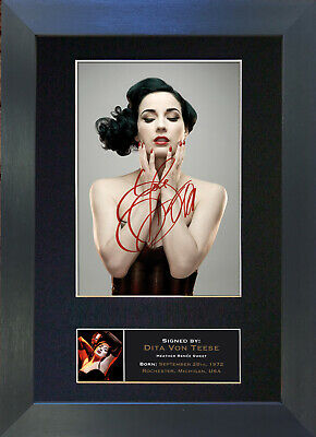DITA VON TEESE Signed Mounted Autograph Photo Prints A4 250