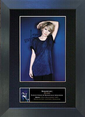 DIDO Signed Mounted Autograph Photo Prints A4 324