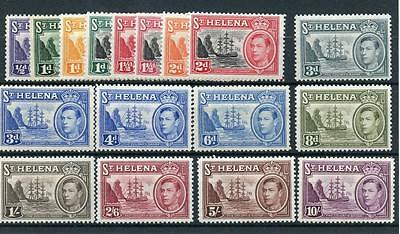 St Helena 1938-44 set and 1949 new colours SG131/40+ MM