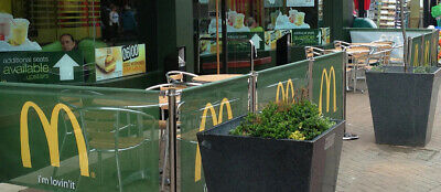 Cafe barriers restaurant shop club pub hotel printing & design included in price