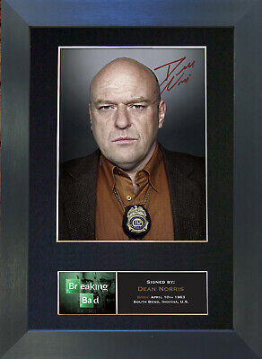 DEAN NORRIS Breaking Bad Signed Mounted Autograph Photo Prints A4 429