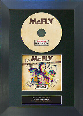 MCFLY Memory Lane Album Signed CD Mounted Autograph Photo Prints A4 18