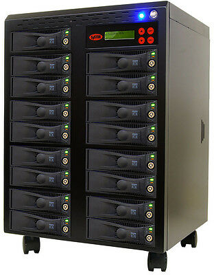 16 SATA Hard Disk Drive(HDD/SSD) Duplicatore/Sanitizer Disco Rigido Copia Torre