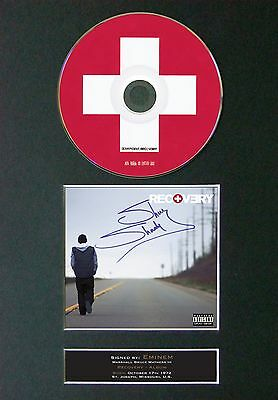 EMINEM Recovery Album Signed CD Mounted Autograph Photo Prints A4 23