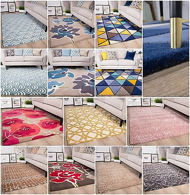 Wool Living Room Rugs 100% Woollen Rug Soft Thick Modern Trellis Geometric Rugs