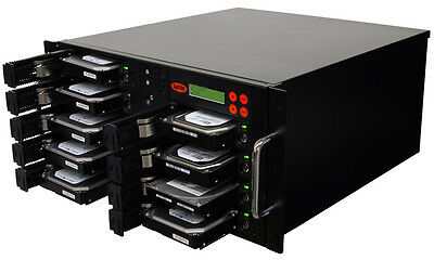 8 SATA Rackmount Disco Rigido (HDD/SSD) Cloner Sanitizer Copista Duplicatore