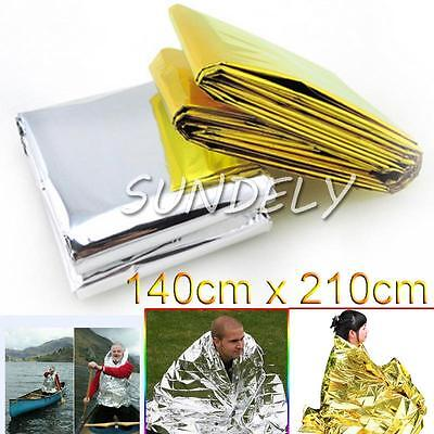 10x Waterproof Foil Emergency Blanket Thermal Camping First Aid Survival Rescue