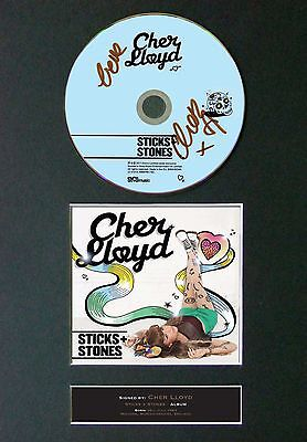 CHER LLOYD Sticks & Stones Album Signed CD Mounted Autograph Photo Prints A4 40