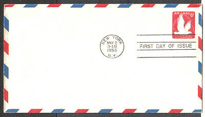 Us Fdc 1956 Fipex 6C Air Mail First Day Of Issue Cover New York
