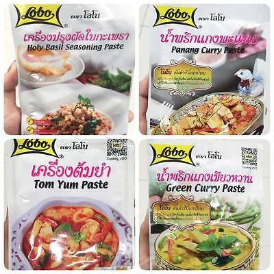 4pack*50g LOBO THAI FOOD 4 flavor Hit Kitchen Delicious Tasty Tom yum FREE SHIPP