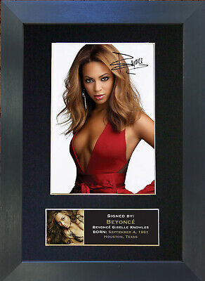 BEYONCE Signed Mounted Autograph Photo Prints A4 234