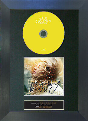 ELLIE GOULDING Bright Lights Signed CD Mounted Autograph Photo Prints A4 51