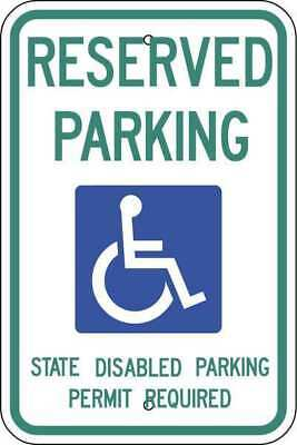 ZING 2706 Handicap Parking Sign, 18in Hx12in L