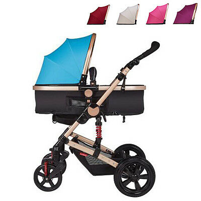 Hot Baby Stroller Infant Travel Car Foldable Pram Two Way Carriage Pushchair