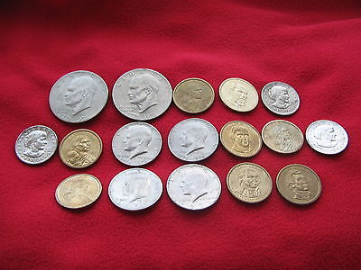 BULK LOT OF VERY COLLECTABLE USA COINS $15 in Total Free UK post Worht a look