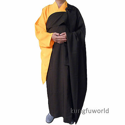 Shaolin Zen Buddhist Monk Dress Manyi Kesa Cassock Robe Meditation Suit