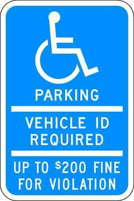 Parking Sign,18 x 12In,WHT/BL,HDCP LYLE HC-MN01-12HA