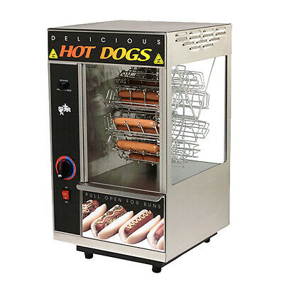 Star 174CBA 18 Hot Dog Capacity Broil-O-Dog Hot Dog Broiler / Rotisserie