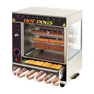 Star 175CBA 32 Hot Dog Capacity Broil-O-Dog Hot Dog Broiler / Rotisserie