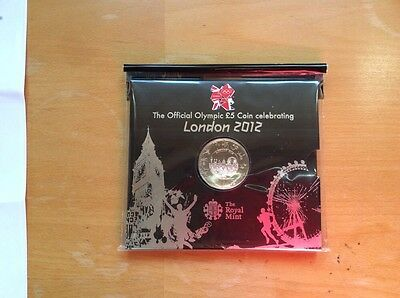 Official 2012 LONDON OLYMPIC £5 Five Pound Coin Sealed in a Royal Mint Pack