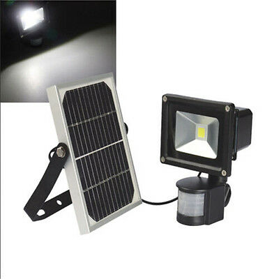 10W Led Solar Power Floodlight Security Light+ Solor Panel Outdoor Garden