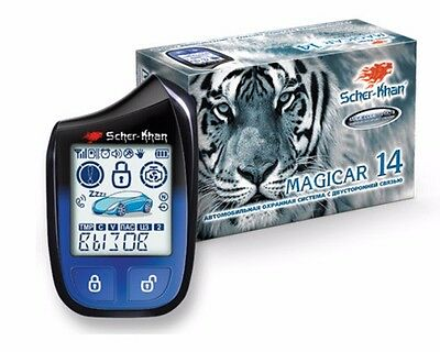 SHER-KHAN Magicar 14 car alarm 3000m autostart 868 Mhz CAN-bus K-Line Slave-mode