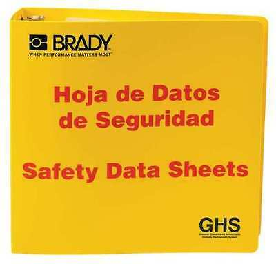 Safety Data Sheets (SDS), Right to Know Binder, Brady, 121186