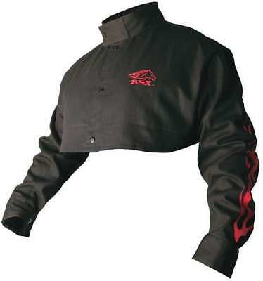 Welding Half Jacket,FR,Cotton,Black,4XL BSX BX21CS