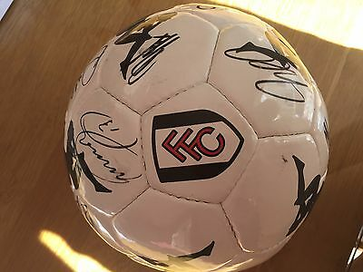 Rare Fulham FC 2010 signed autographed kappa football with official certificate