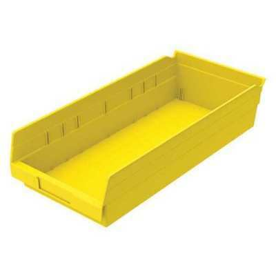 "Yellow Shelf Bin, 17-7/8""L x 8-3/8""W x 4""H AKRO-MILS 30158YELLO"