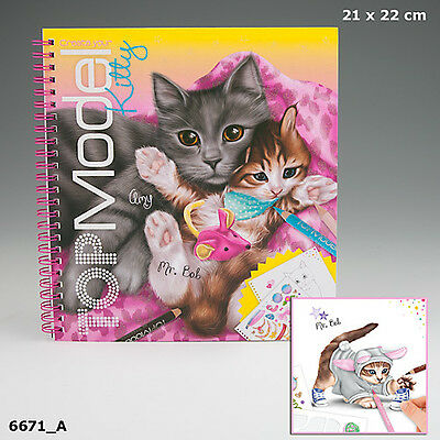New Top Model Create Your Top Model Kitty  Colouring Book