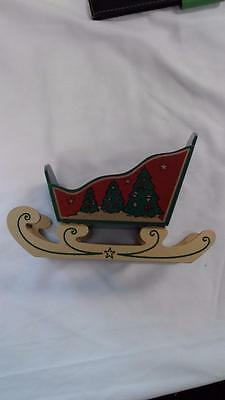 *See's Candy Wooden Santa's Sleigh